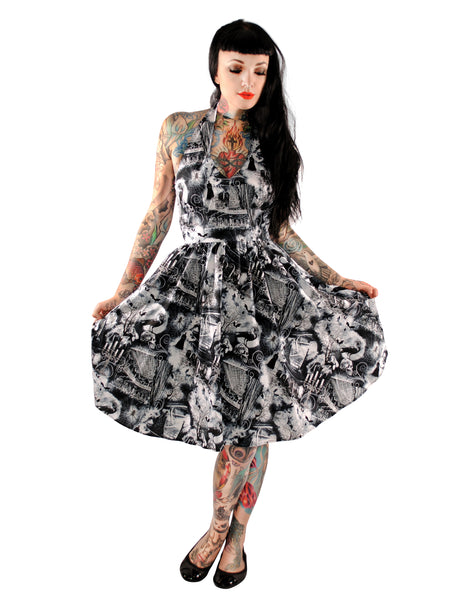 3407 Ghouls Halter Dress