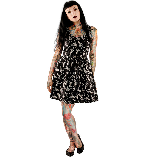 3584 Silly Skeletons Glow in the Dark Dress