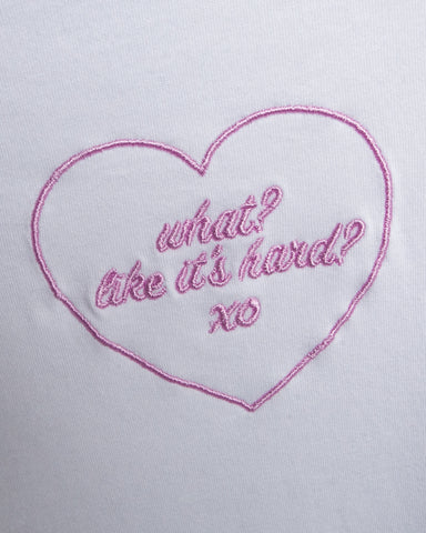 """What? Like It's Hard?"" Embroidered Women's Tee by Legally Blonde"