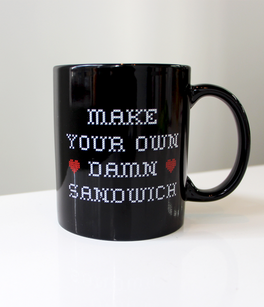 Make Your Own Damn Sandwich Mug by Whohaha