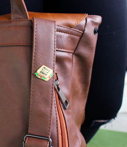 make your own damn sandwich feminist pin