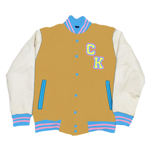 Latte Letterman Jacket