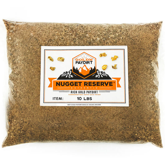 10 Lb. NUGGET RESERVE ELITE™ Gold Paydirt Unsearched