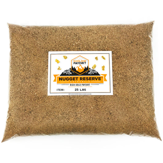 25 Lb. NUGGET RESERVE ELITE™ Gold Paydirt Unsearched
