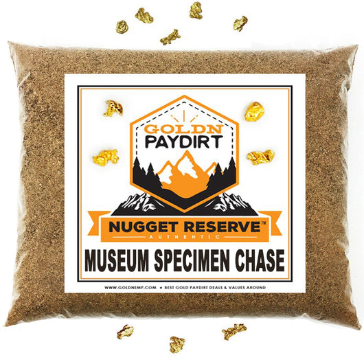 Nugget Reserve 'MUSEUM SPECIMEN CHASE' - Gold Panning Paydirt Concentrate