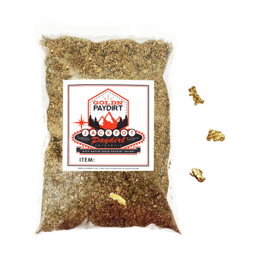 2 Lb. JACKPOT PAYDIRT™ Gold Paydirt Unsearched