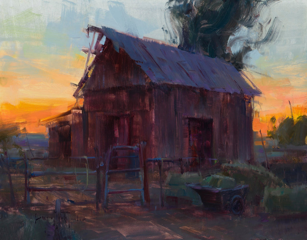 """Sunset Hay Barn"""