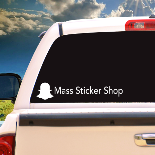 Custom Snapchat Vinyl Sticker