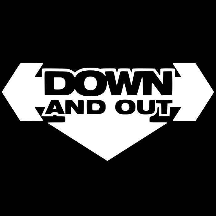 Down and Out Vinyl Sticker