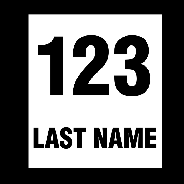 Race Car/Drift Car Door Number Plate - Pack of 2 Vinyl Sticker