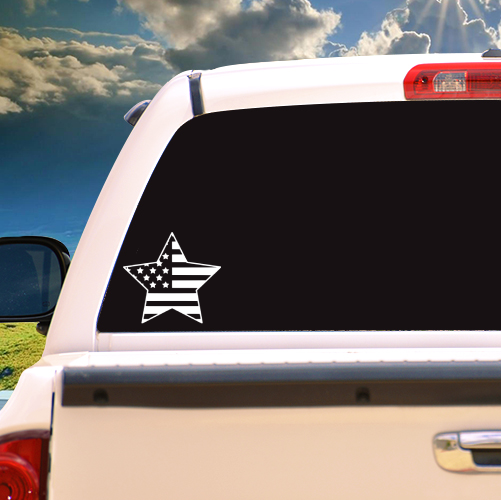 American Flag Star Vinyl Sticker