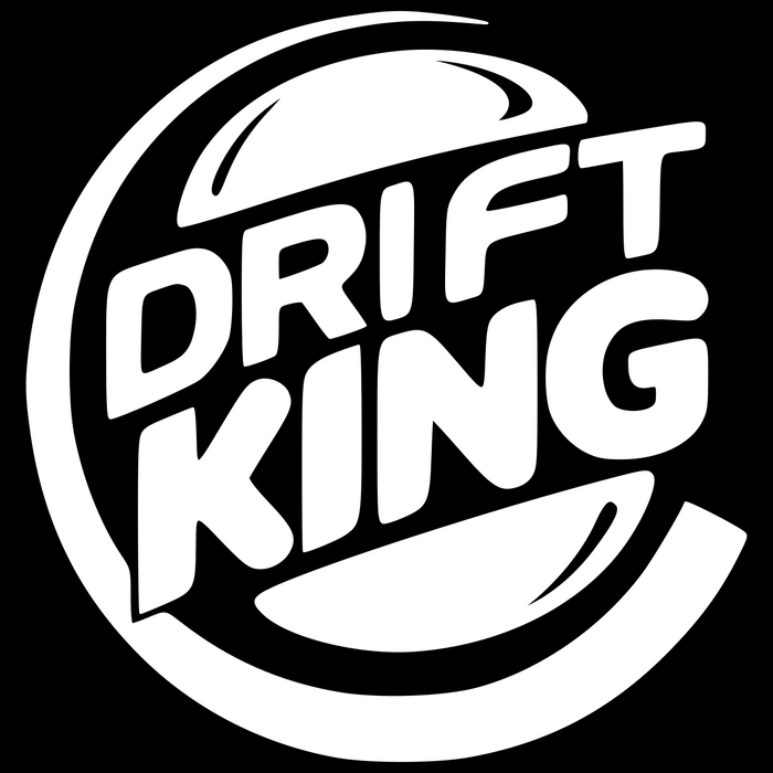 Drift King Burger Vinyl Sticker