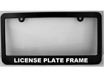 Single Custom License Plate Frame