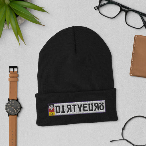 Team Dirty Euro Official Plate Cuffed Beanie