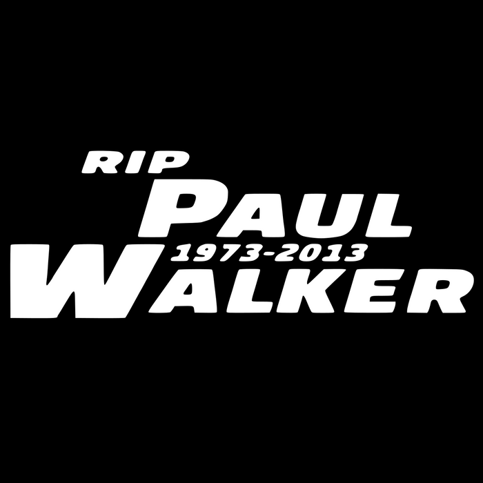 RIP Paul Walker Vinyl Sticker