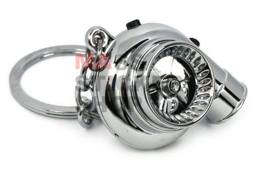 Chrome Turbo Keychain - LED + Sound + USB