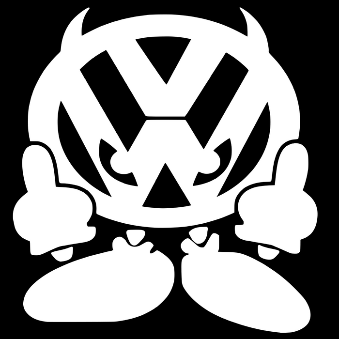 VW Devil Vinyl Sticker