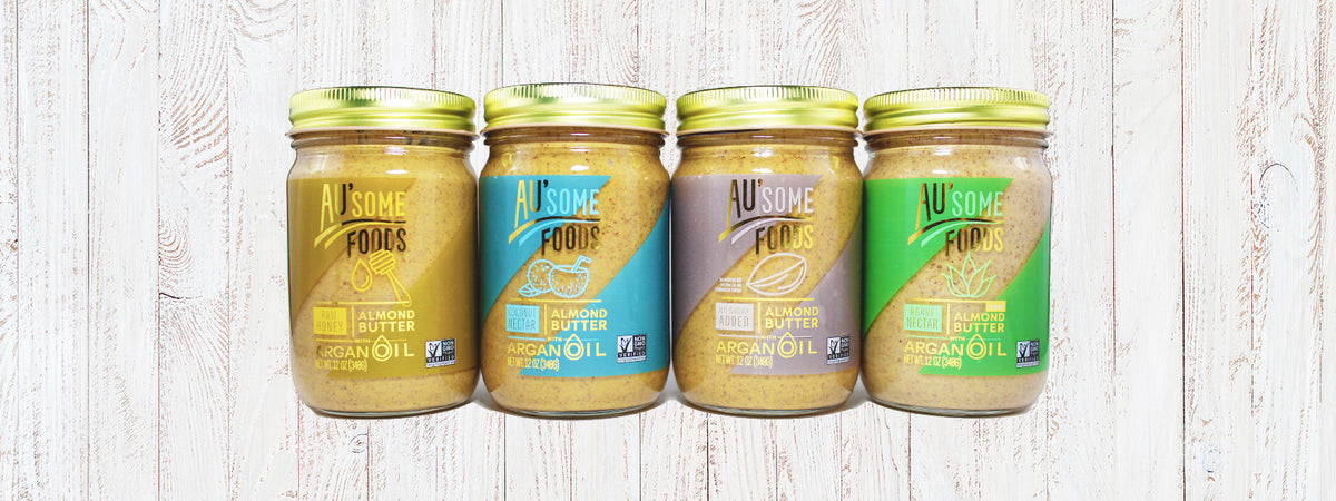 Au'some Foods Almond Butter with Argan Oil, Organic Natural Sweeteners