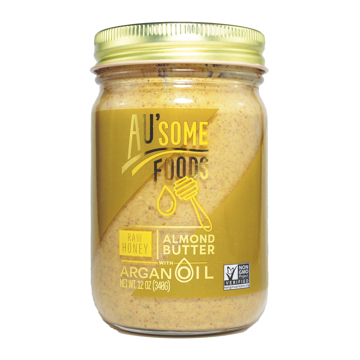 best almond butter. Au'some Foods almond butter with argan oil. raw honey. Au'some Foods