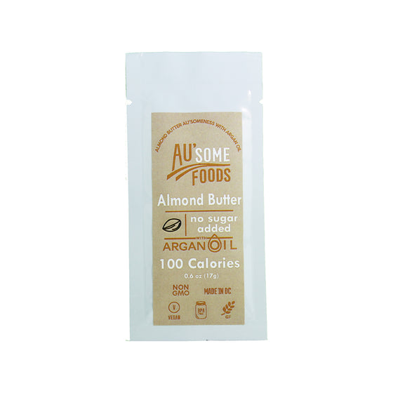 best almond butter. Au'some Foods almond butter with argan oil. no sugar added. Au'some Foods. Single serve