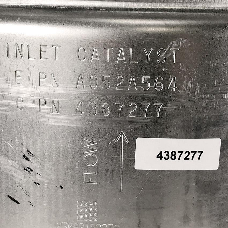 OEM CUMMINS INLET CATALYST (4387277) close up