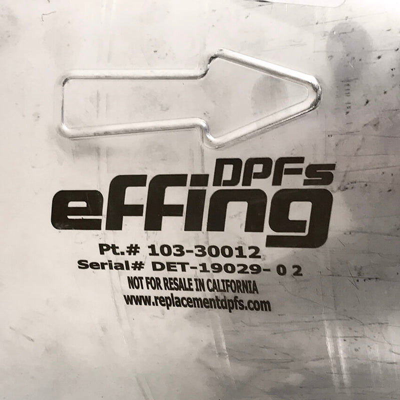 EFFING / DETROIT DPF (2353827 / 103-30012) label