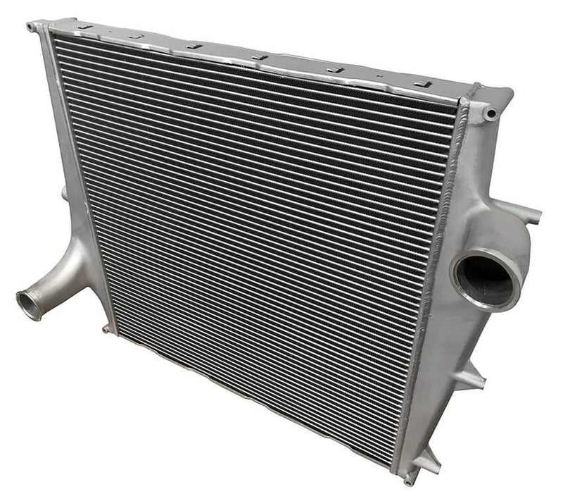 Redline Emissions Products OEM Volvo Charge Air Cooler (OEM 20984819 / RED RL0101) angled view