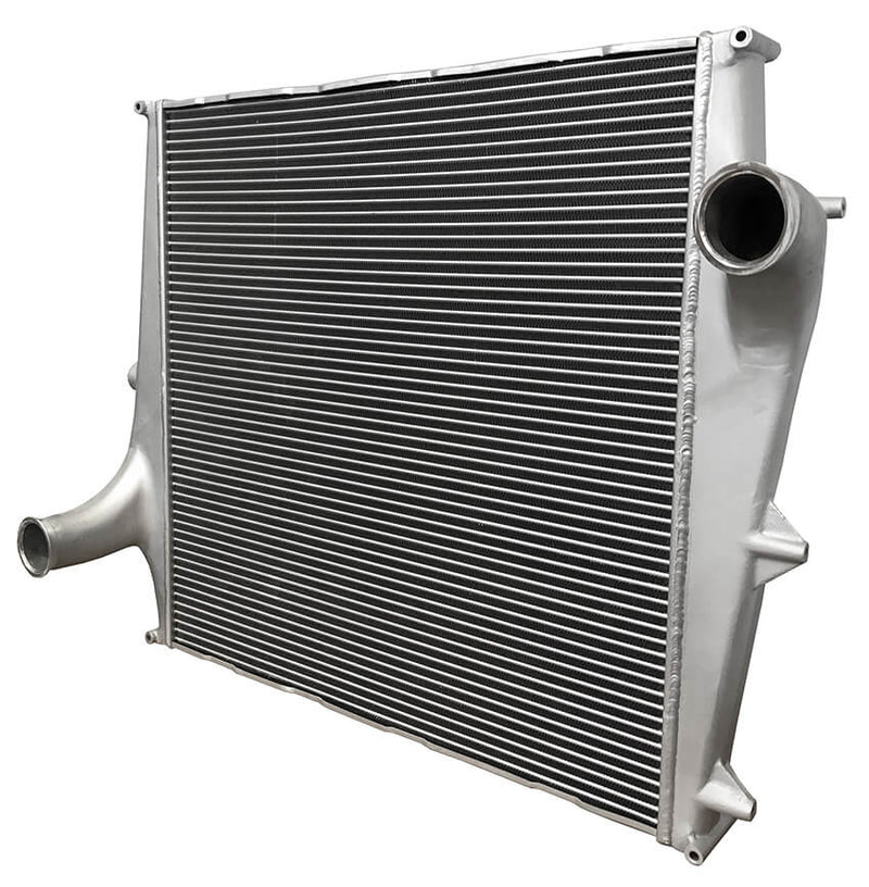 Redline Emissions Products OEM Volvo Charge Air Cooler (OEM 20984819 / RED RL0101) angled view 2