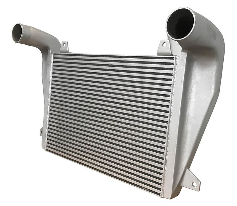 Redline Emissions Products OEM Freightliner Charge Air Cooler (OEM 4863900001 / RED RL0206) side view