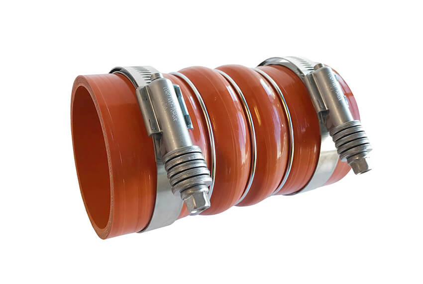 Redline Emissions Products Charge Air Cooler Hot Side Hose with Clamps (OEM 7731-0001 / RED RLH3006) with clamps