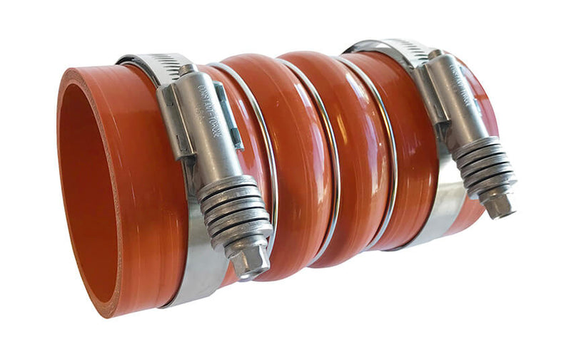 Redline Emissions Products Charge Air Cooler Hot Side Hose with Clamps (OEM 7732-0001 / RED RLH3506) with clamps