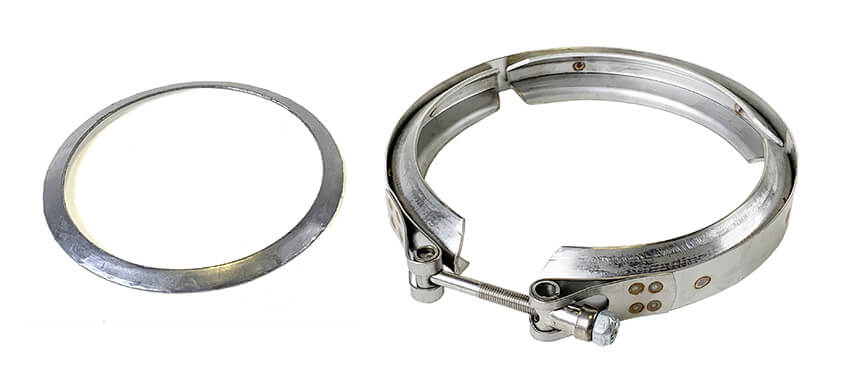 Redline Emissions Products OEM Detroit / Mercedes One Box Gasket / Clamp Kit (OEM A0019959702 / RED VB3014 )