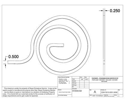 Redline Emissions Products OEM ESW DPF Gasket Rope (R010-0001-0008 / RED GR1101)