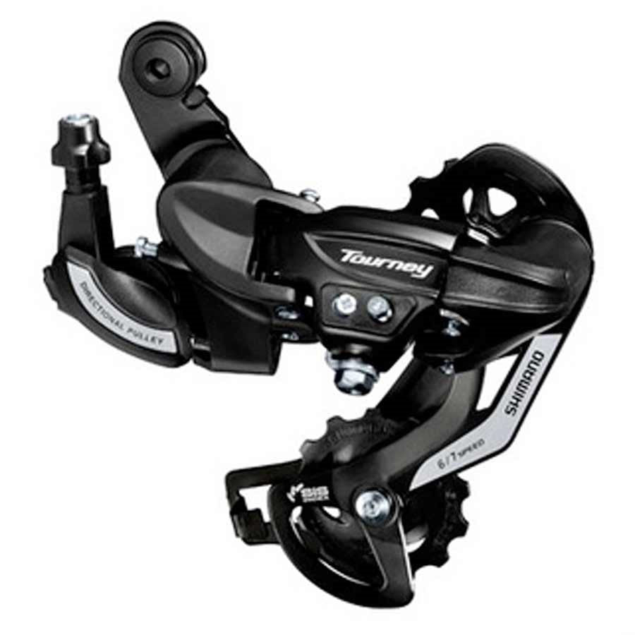 Rear derailleur - Shimano, Tourney RD-TY500, 6/7sp., SGS, Black, Direct attachment