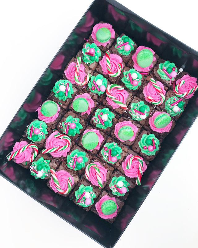 CHRISTMAS BAUBLE BROWNIES