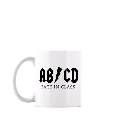 AB/CD BACK IN CLASS COFFEE MUG
