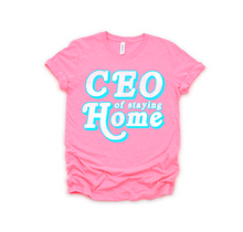 CEO OF STAYING HOME DISTRESSED TEE