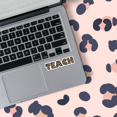 LEOPARD TEACH STICKER