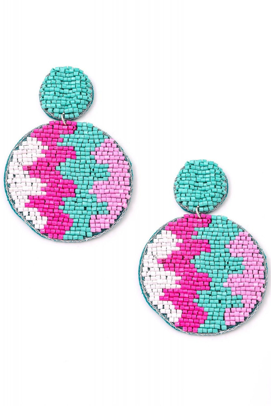 AQUA AZTEC EARRINGS