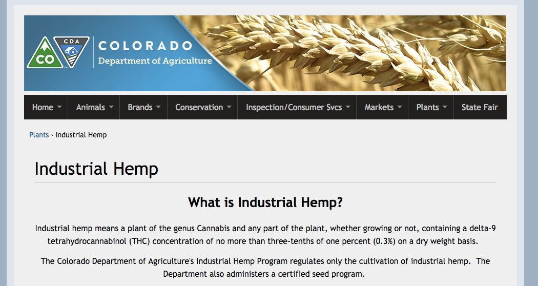 Colorado Department of Agriculture Hemp Program