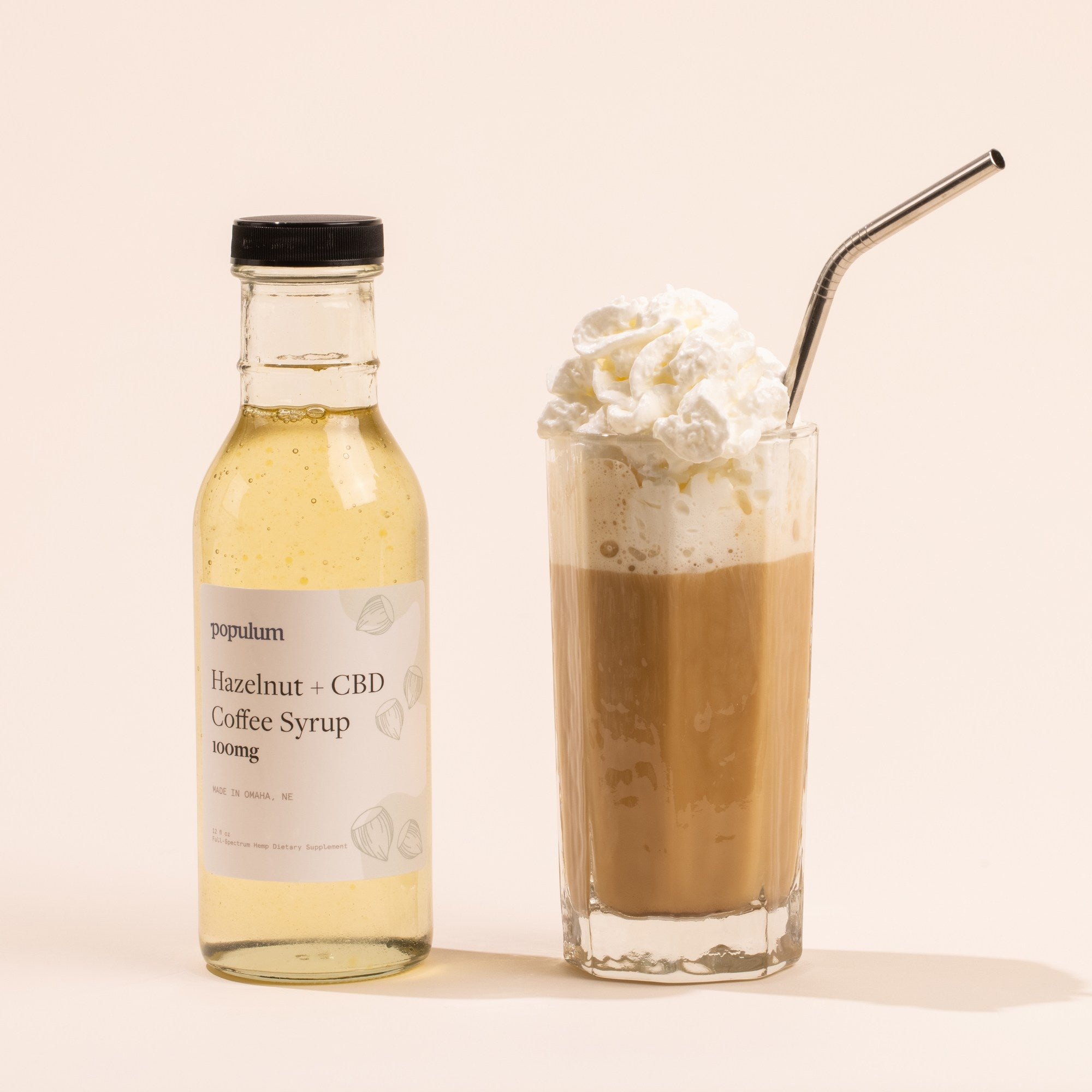 Hazelnut + CBD Coffee Syrup