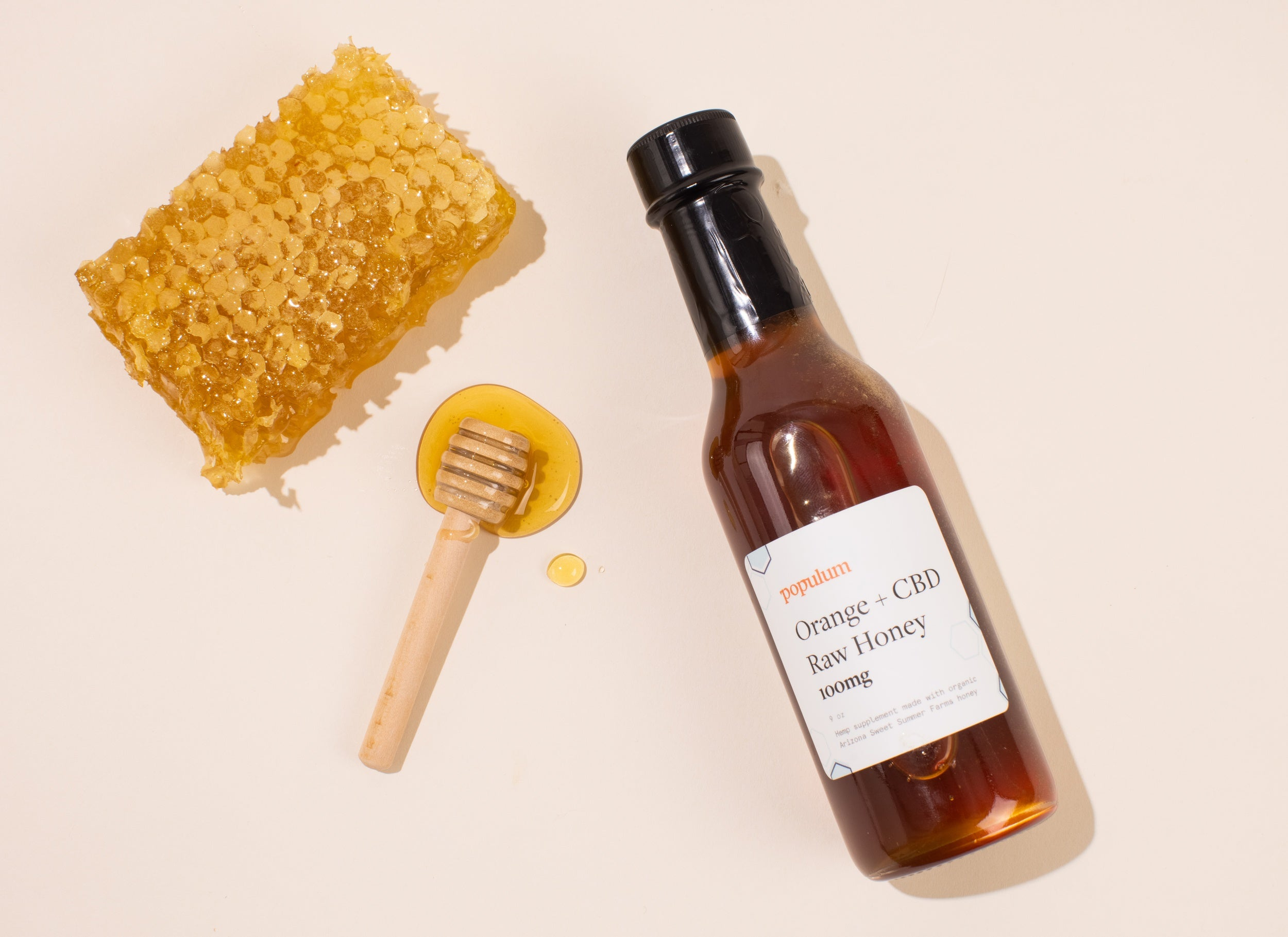 Orange + CBD Raw Honey