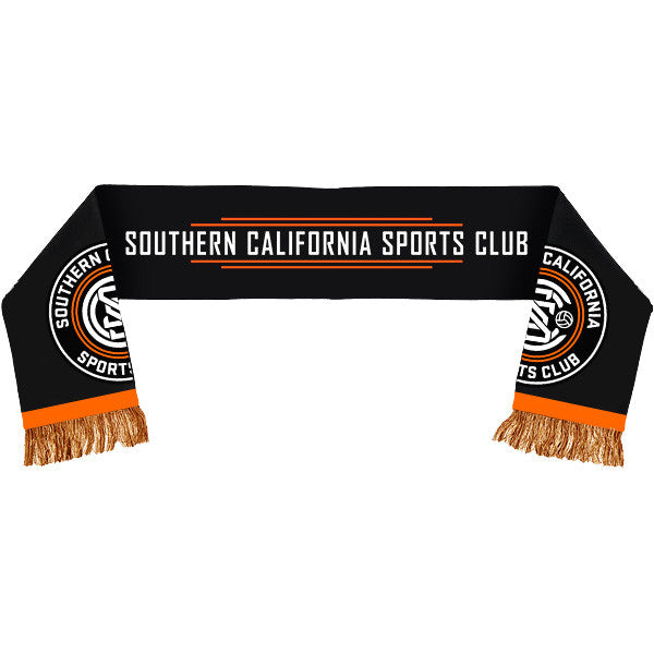 SoCal SC Black Launch Scarf