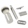 Muhle ROCCA R94 Safety Razor & Synthetic Silvertip Shaving Set Steel