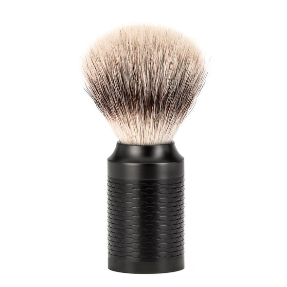 Muhle ROCCA R96 Safety Razor & Synthetic Silvertip Fibre Shaving Set Jet Black