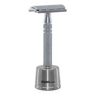 Feather AS-D2S Safety Razor Stainless Steel & Stand