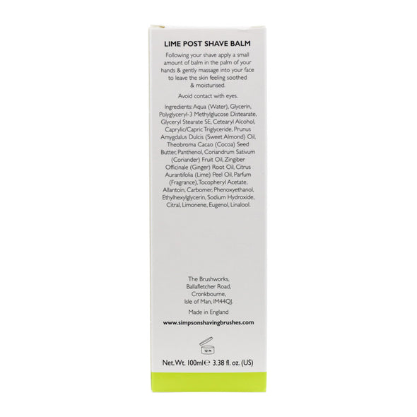 Alexander Simpson Lime Post Shave Balm 100ml