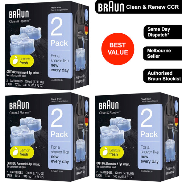 Braun Clean and Renew 6x Cartridges Cleaning Replacements CCR2 CCR4 CCR6