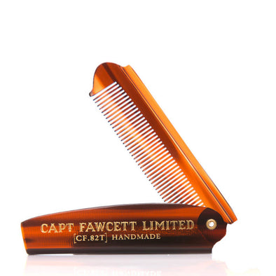 Captain Fawcett's Folding Beard & Moustache Comb 7.6""