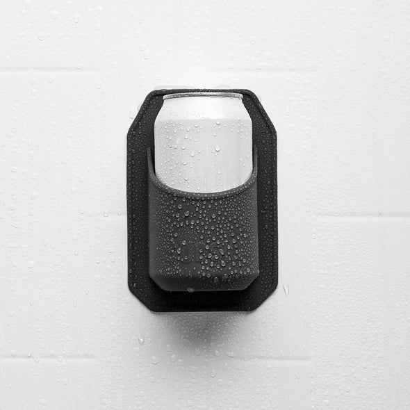 Tooletries Silicone Shower Beer Holder Charcoal
